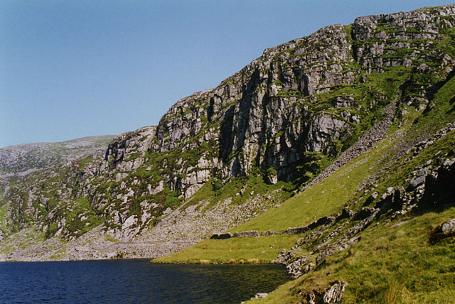 Crags south of Llyn Bodlyn