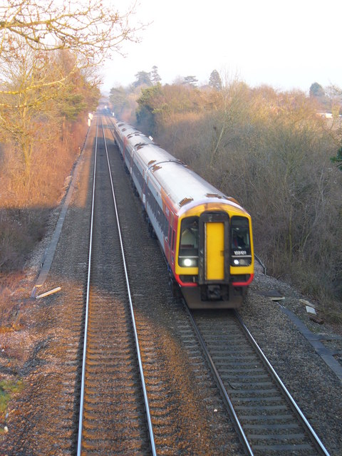 Evening Train from Overton