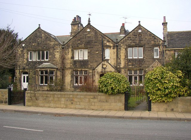 19C houses in 17C style, Main Street, Burley in Wharfedale