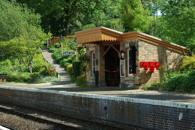 Arley SVR Station: northbound platform
