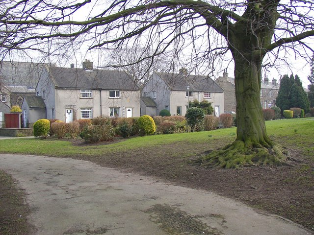 Council houses, off Main Street, Burley in Wharfedale