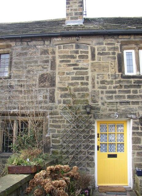 17C doorway, York Road, Burley in Wharfedale
