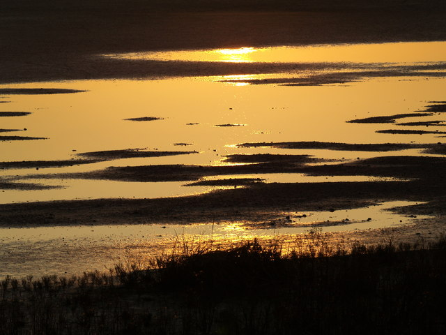 Sunset in the Mudflats at Paull's Tidal Lagoon