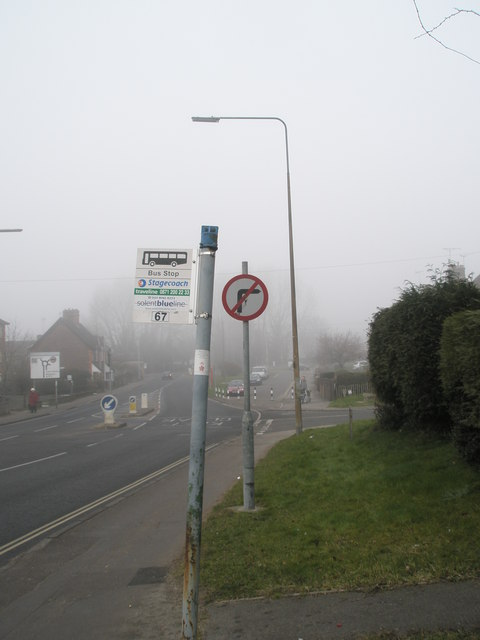 Bus stop by Oaklands Road