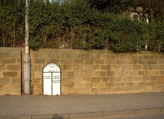 Milepost, Main Street, Burley in Wharfedale