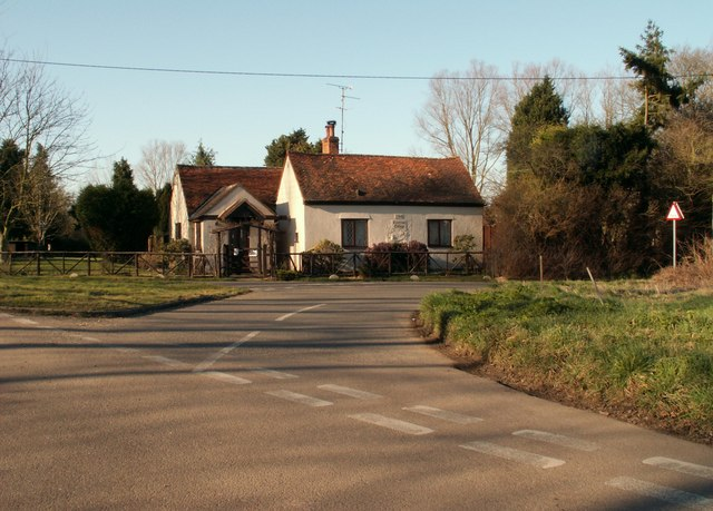 Road junction on Cow Watering Lane