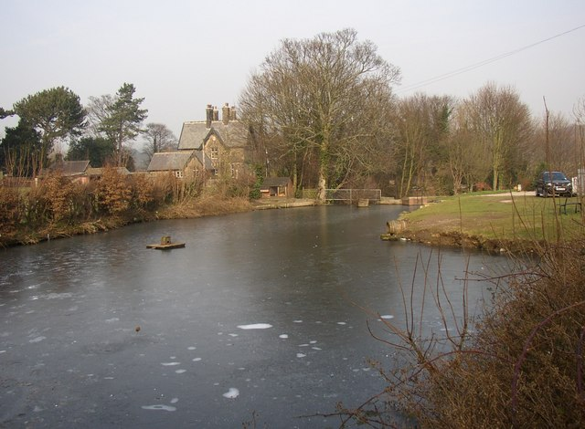 Millpond and Vicarage, Corn Mill Lane, Burley in Wharfedale