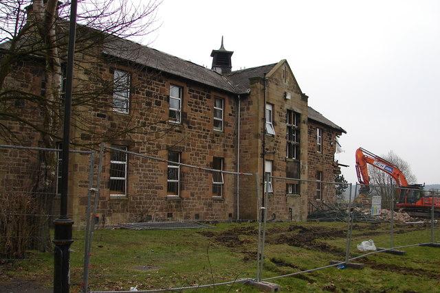 Demolition at Cleland Hospital
