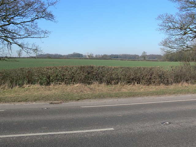 Farmland north of the A47 Hinckley Road