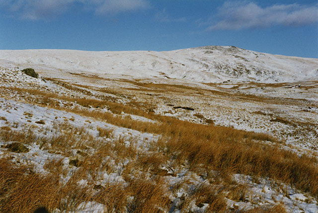 Southeast slopes of Pumlumon Fawr, in winter