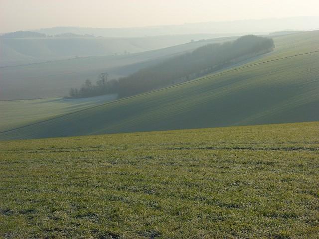 Farmland below Upper Upham