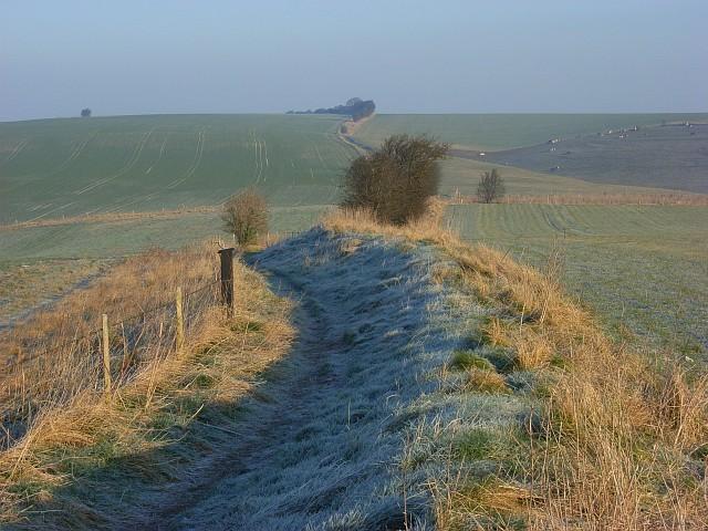 The Ridgeway near Liddington Hill