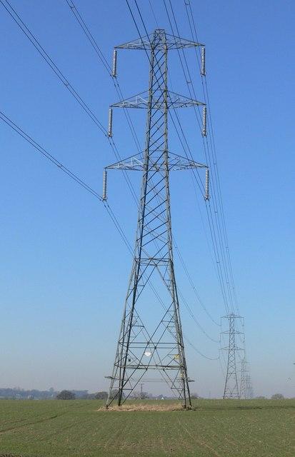Pylons north of Earl Shilton