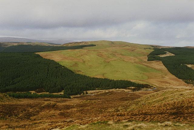 An old view northeast of Pen y Garn