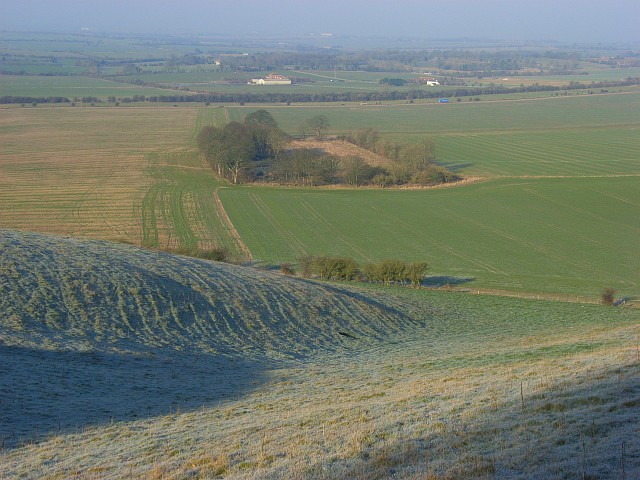 Farmland below down, Lower Upham
