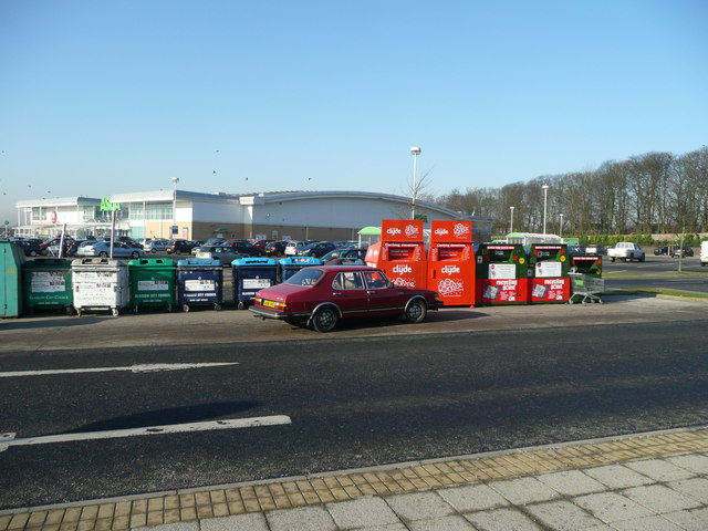 Recycling facilities at Asda