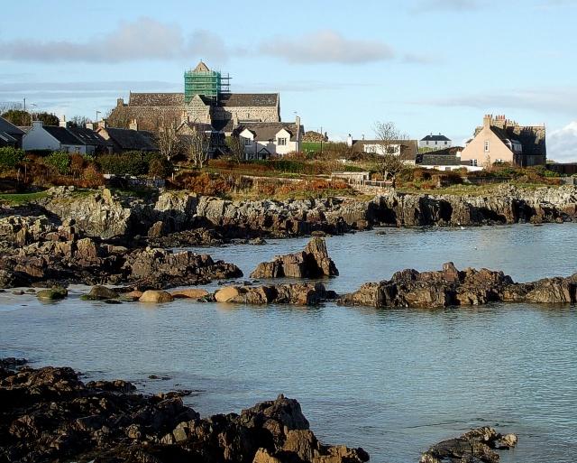 Iona Abbey across St. Ronan's Bay