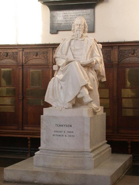 Statue of Tennyson, Trinity College Chapel