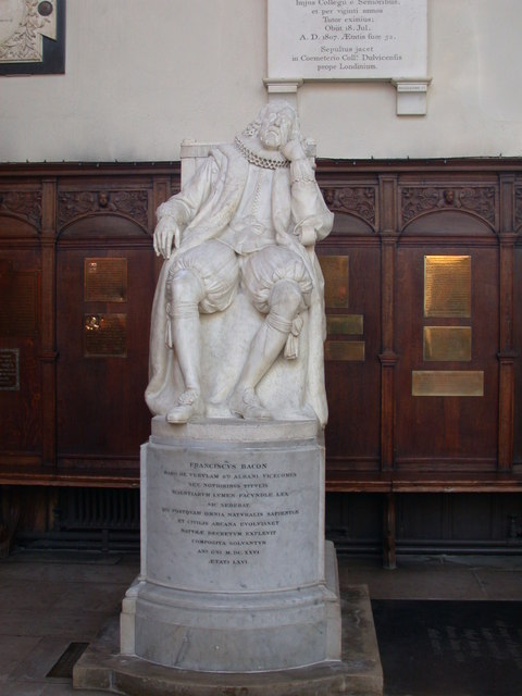 Statue of Francis Bacon, Trinity College Chapel