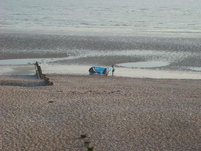 Beached Hang Glider, Cooden Beach