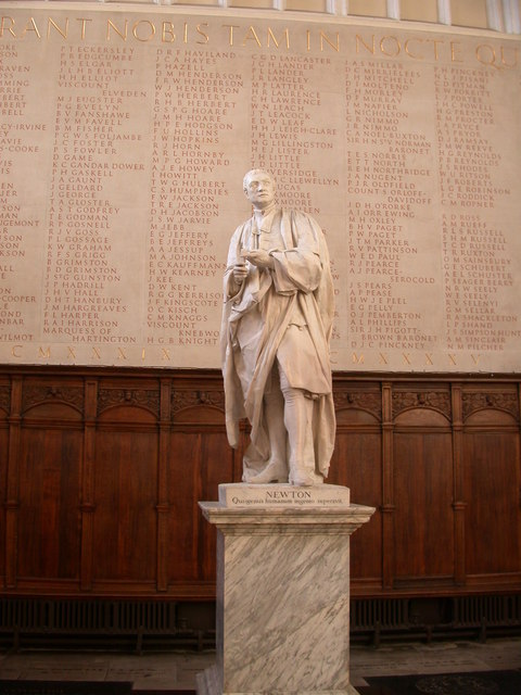 Statue of Isaac Newton, Trinity College Chapel