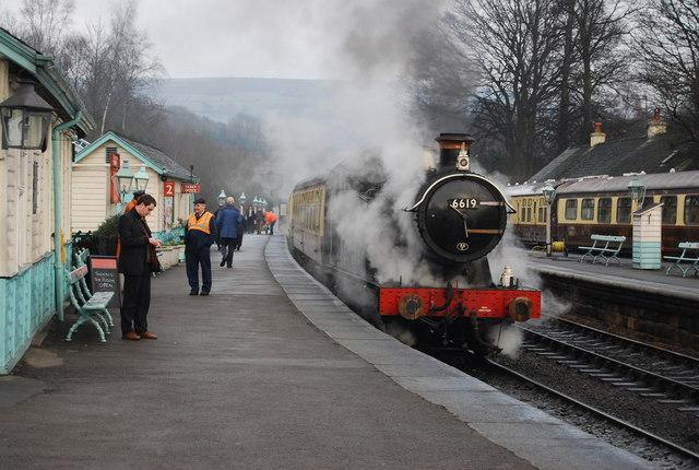 Steam train, Grosmont Station