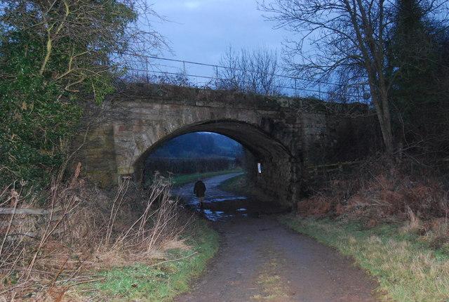 Railway bridge over Barnard Lane