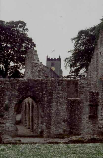 Tower of St Oswald's Church from Old Rectory
