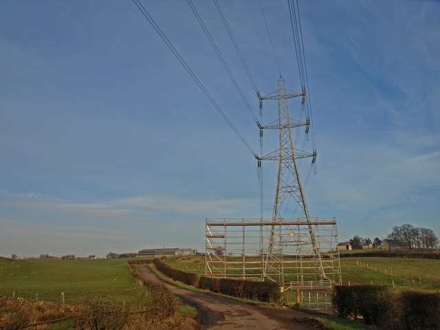 Pylon Shutterflat Farms Wfmillar Geograph Britain