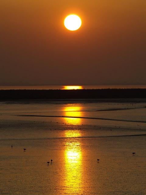 Paull's Tidal Lagoon at Sunset