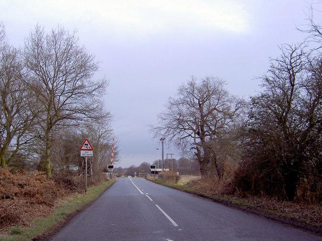 Mansfield Road railway crossing