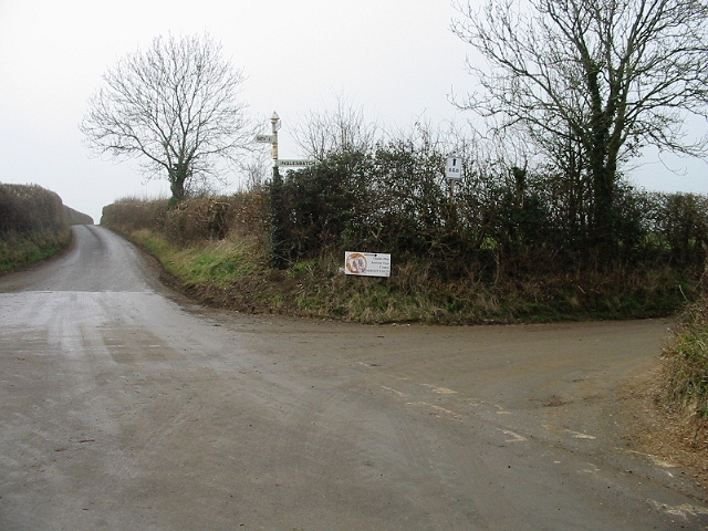 Looking SW along Priston Lane