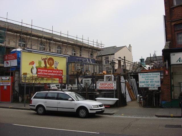 Architectural salvage yard, Willesden High Rd