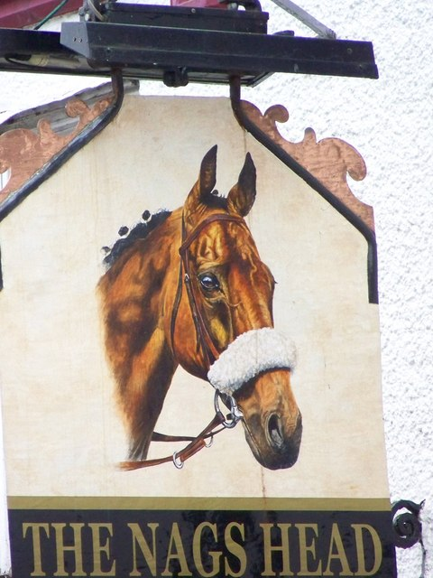 Sign for the Nags Head, Warminster