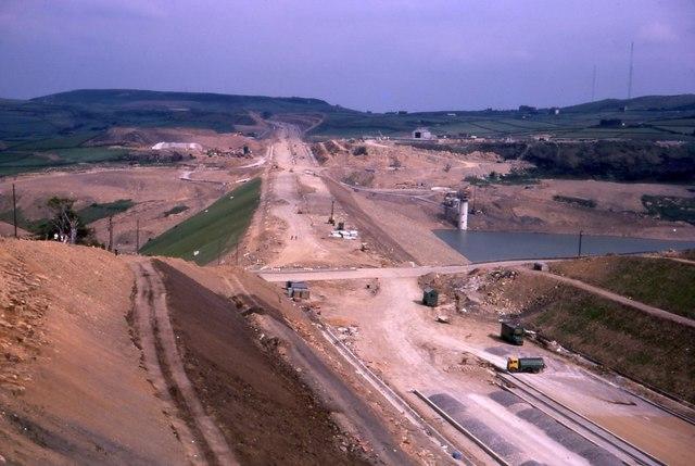 Scammonden Dam under Construction