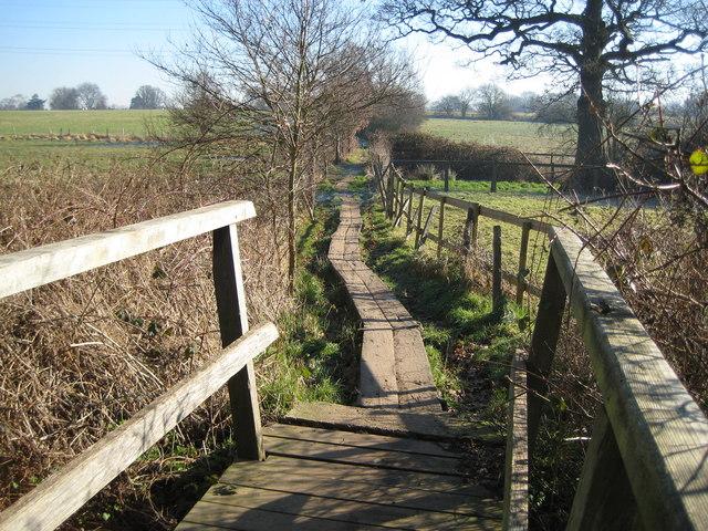 Send Marsh: Footpath towards Ripley