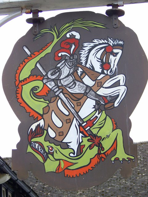 Sign for the George and Dragon, Erlestoke