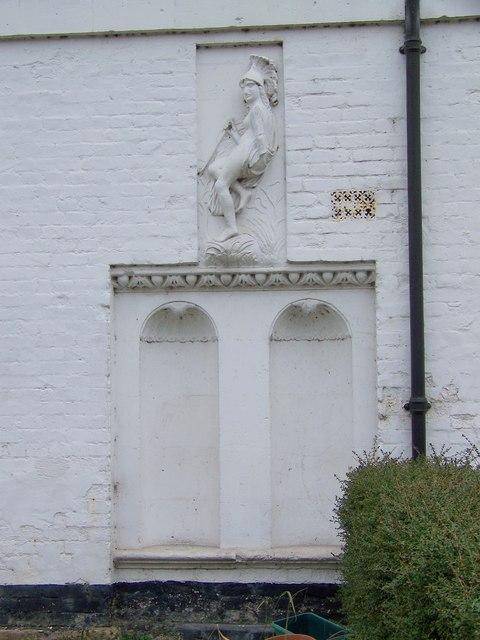 Sculpture on Cottage, Erlestoke