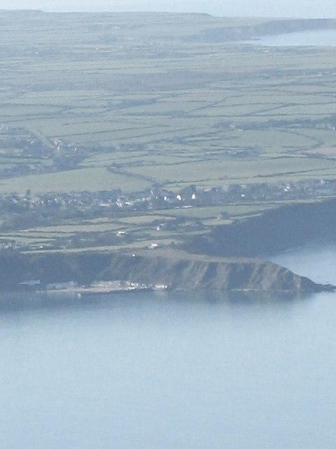 Penrhyn Nefyn from the central peak of Yr Eifl
