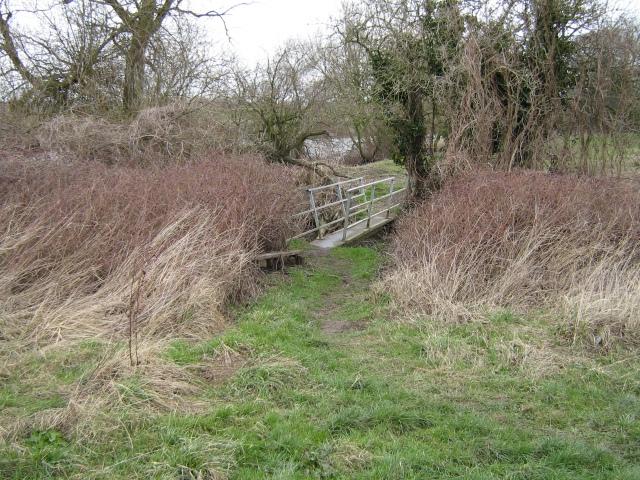 Rickety footbridge