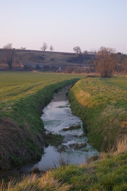 Drainage ditch on Wigmore Moor