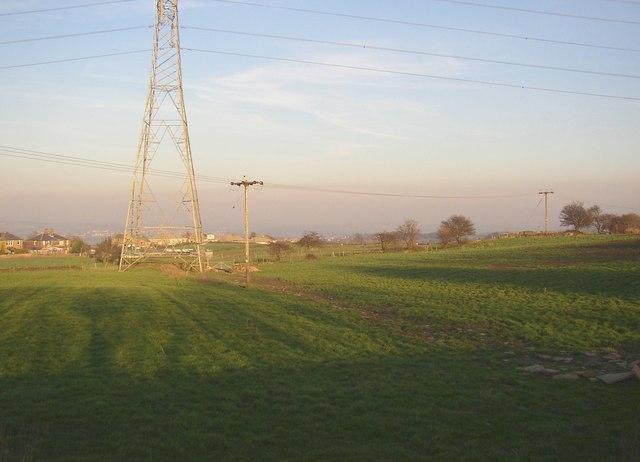 The Rastrick / Fixby boundary, Pinfold Lane