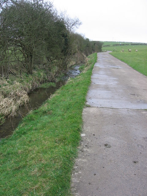 Track beside Sutton Brook