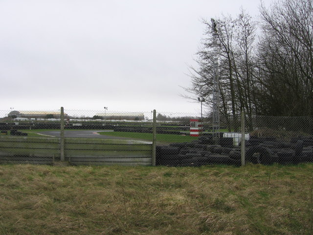 Former airfield, now a karting centre