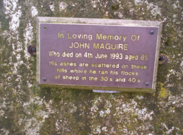 Plaque on Dumglow trig.