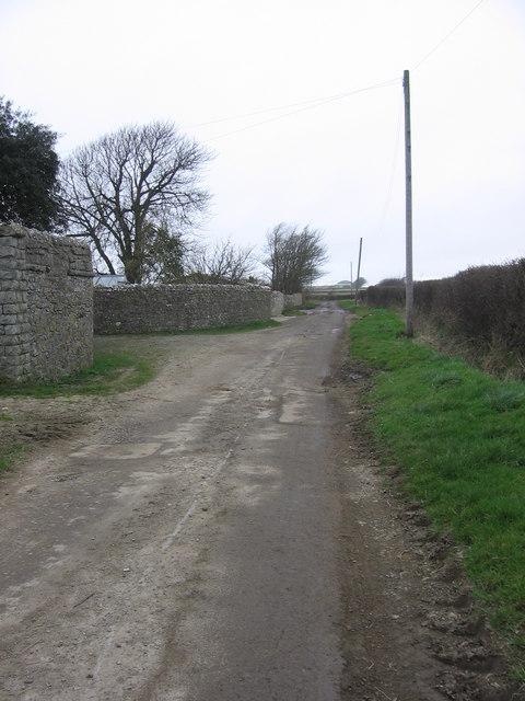 The road past Morfa Farm