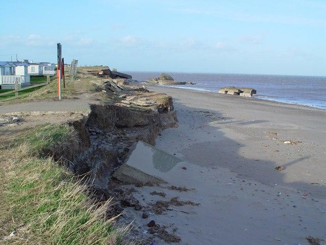 Coastal erosion, end of the road, Kilnsea