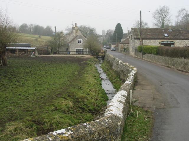 View along Priston Lane to Priston village