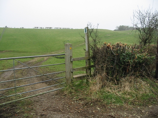 Footpath across the fields to the SW of Priston