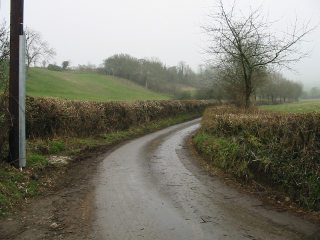 Hedge lined lane to Priston